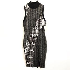 rachel roy • jacquard knit textured sweater dress